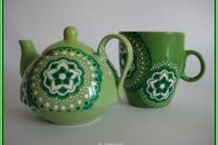 5.Tea-for-one setje groen