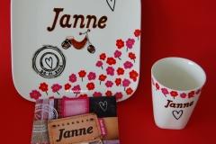 Verjaardagsservies Janne